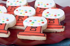 Gumball bubble gum machine sugar cookies at a birthday party via Kara's Party Ideas KarasPartyIdeas.com