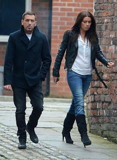 Coronation Street carla and peter Carla Connor Coronation Street, Coronation Street Blog, Alison King, Your Style, Bomber Jacket, Soap Stars, Celebs, Street Style, Celebrity