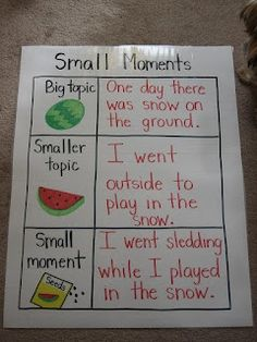 Lucy Calkins... Small Moments!...kind of goes along with the Garden Journal