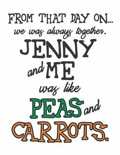 Typography Art Print  Peas and Carrots  by HouseofTenderBeasts, $20.00