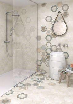 Serie RIFT est un grès cérame émaillé, apparence ciment, parfait pour votre bain. | VIVES Azulejos y Gres S.A.
