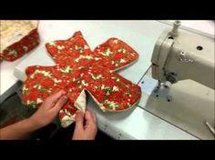 Panera flor p/pan o galletas Pach Aplique, Flower Making, Origami, Applique, Christmas Ornaments, Xmas, Quilts, Sewing, Holiday Decor