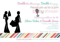 Joint Baby Shower Love The Invite Showers Double