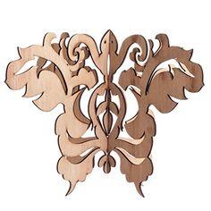 Koyal Butterfly Damask Wood Laser Cut Chandelier