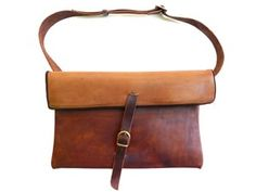 two-toned leather bag by corinne
