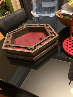 Dice tray is all don Board Game Table, Table Games, Board Games, Game Tables, Pool Tables, Dungeon Master Screen, Dm Screen, Dungeons And Dragons Dice, Dice Box