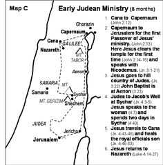 Jesus in Judea - John 4; Luke 4 Really excellent maps by chapter and verses.