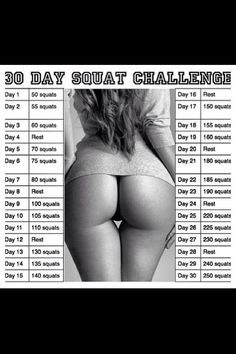 Squat challenge I started today ..I want my botty to look like this again!!!!!!!!!