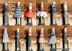 clothespin dolls. Nanny had a jar of these in her kitchen cabinet when I was little. Now it is in my cabinet. She was crafty and so fun. Happy Mother's Day Nanny - I will spend it with you again someday.