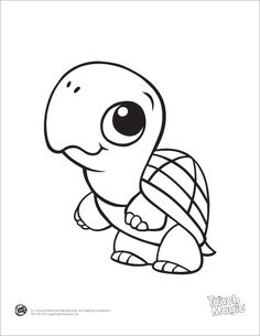 LeapFrog printable: Baby Animal Coloring Pages - Turtle