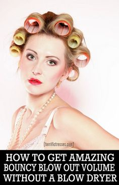 You may feel sleeping in Velcro rollers overnight for soft curls or to amp up th. Short Wavey Hair, Curled Hairstyles For Medium Hair, Curls For Long Hair, How To Curl Short Hair, Easy Hairstyles, Updo Hairstyle, Prom Hairstyles, Curly Hair, Curl Hair With Rollers