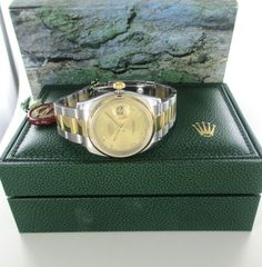 ROLEX DATEJUST MODEL 116203 MENS GENTS OYSTER PERPETUAL WATCH TWO TONE GOLD #Rolex