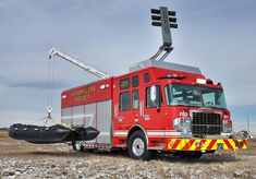 Fairbanks (AK) Fire Department, heavy rescue. Spartan Gladiator cab and chassis