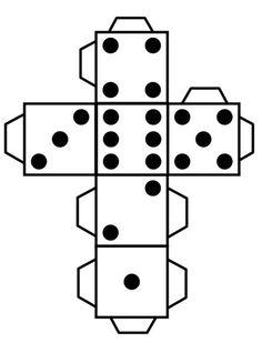 Kość do gry 1-6. Kości na matematyce. DARMOWE druki.