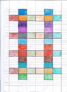 Camillo Bortolato - Metodo Analogico Graph Paper Drawings, Graph Paper Art, Mandala, Problem Solving, Coding, Texture, Quilts, How To Plan, Creative