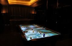 Pool table that ripples like water!