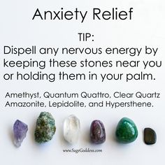 Dispell any nervous energy by keeping these stones near you.