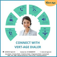 Connect with Vert-Age Dialer. We provide Auto dialer, Predictive dialer, Preview dialer, Progressive dialer, Customized CRM software, Lead management software, IVR service, OBD, Inbound dialer, Outbound dialer, missed call service, click to call, etc. #software #callcentersoftware #androiddialer #socialdistancing #xenottabyte #autodialer #ivr #acd #autodealers #dialersoftware #predictivedialer #crmsoftware #vertage #vertageindia #VertAge Lead Management, Ac D, Connect, Software