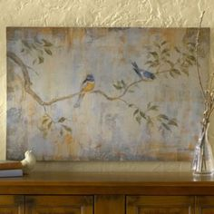 Les Oiseaux Print | Ballard Designs  Maybe I will try to duplicate this one for over the bed
