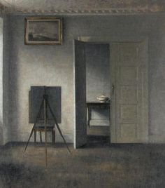 Vilhelm Hammershoi   Interior with Easel   1910