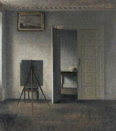 Vilhelm Hammershoi   Interior with Easel   1910