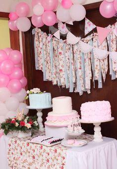 Bunny Shabby Chic Birthday Party Ideas | Photo 1 of 55 | Catch My Party