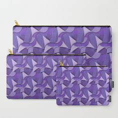 Buy Ultra Violet Abstract Waves Carry-All Pouch by #Gravityx9 -  Worldwide shipping available at Society6.com.  - Curls, texture and shadows of Four shades of the Pantone Color of the Year for 2018 : Ultra Violet. #handbag #accessories #carryallpouch #purple #violet #pantonecolors #pantone2018 #womensfashion #womenswear