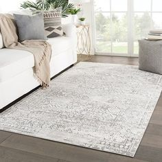 Deville Geometric Gray/ White Area Rug - (Grey/White - Juniper Home (Polyester, Border) Up House, Rectangular Rugs, Global Design, Modern Area Rugs, Indoor Outdoor Rugs, Online Home Decor Stores, Online Shopping, White Area Rug, Cool Rugs