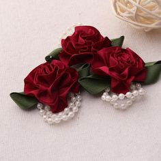 ☆30mm,10pcs,Wine Red Rose Satin Flowers with beads and leaves Satin Ribbon Flowers ,Fabric Flower,brooch pin,headband flowers((FL04)☆Color:Wine Red☆Quantity:10pcs☆Size:30mm☆Material:Satin ☆Conditions: New ☆Please check the color carefully before buying.☆Have any questions? Contact me! Fabric Flower Brooch, Fabric Flowers, Headband Flowers, Satin Ribbon Flowers, Brooch Pin, Red Roses, Leaves, Wine, Check