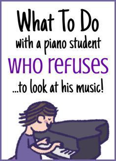 Tips and tricks for teaching piano students who are dependent on watching their hands while they play.