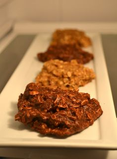Chocolate Oatmeal Cookies (Sugar-Free, Dairy Free, and Vegan) - a little sub to be g-f