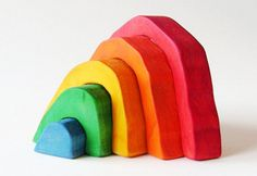 Each Rainbow Stacker by Imagination Kids is uniquely handcrafted and one of a kind.