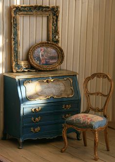 RESERVED FOR J  Louis Style Lady's Writing Commode door ArgusMinis, $165.00