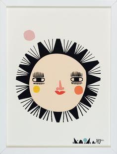 Going Danish The Sun Print by Danish Illustrator Mariann Doherty Art And Illustration, Illustrations, Art Soleil, Sun Art, You Draw, Fine Art Paper, Art For Kids, Print Patterns, Artsy