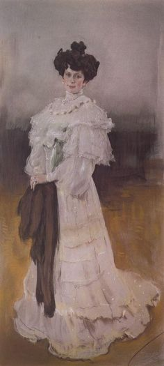 Valentin Serov Portrait of E.A. Krasilschikova - Handmade Oil Painting Reproduction on Canvas