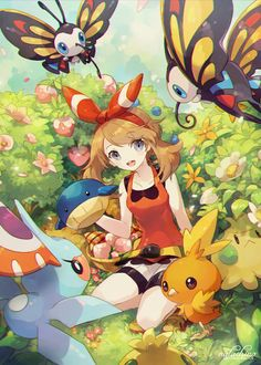 Pokémon: Sapphire and her friends