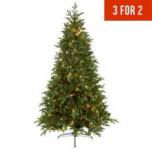 6ft Chesterfield Easy Connect Lights Christmas Tree Green Green Christmas Tree Christmas Tree Lighting Tree Uk
