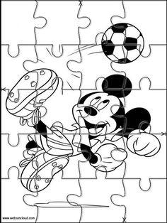 Puzzles Rompecabezas recortables para imprimir para niños Mickey Mouse 23