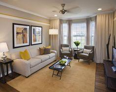 Gray And Yellow Living Room 住まいのデザイン アイデア&画像を探す