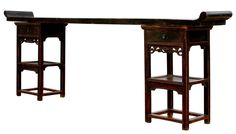 Antique Sarreid LTD Chinese Ming Style Console Table | Chairish