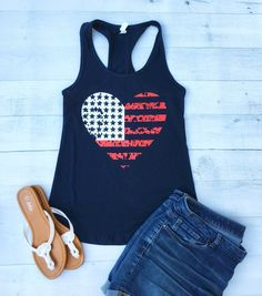 Fourth of july shirt, patriotic shirts for women, of july tank Fourth Of July Shirts, 4th Of July Outfits, Patriotic Shirts, July 4th, Bbq Outfits, Summer Outfits, Cute Outfits, Summertime Outfits, Cute Jeans