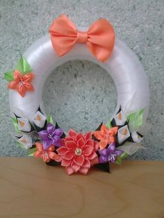 Deco Wreaths, Ribbon Art, Christmas Crafts For Kids, Puppet, Felt Crafts, Easter Eggs, Diy, Decor, Scrappy Quilts