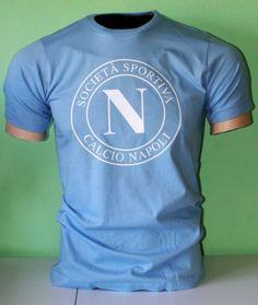 SSC-Napoli-Italy-Italia-Calcio-Football-Soccer-T-Shirt-Maglietta-UEFA-Europe