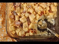 Antjie: Grandma's Old-Fashioned Bread Pudding with Vanilla Sauce