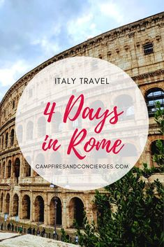 The perfect Rome Itinerary that hits all the best things to do in Rome, plus where to eat in Rome, where to stay in Rome and Rome day trips. travel How to Spend 4 Days in Rome Italy Travel Tips, Europe Travel Guide, Rome Travel, Travel Guides, Greece Travel, Travel Packing, Europe Destinations, Backpacking Europe, Rome Itinerary
