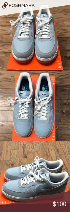 quality design 417ee 8ed13 Shop Men s Nike Blue size 13 Sneakers at a discounted price at Poshmark.  Description  Brand New Nike Air Force 1 Size Color-LT Armory Blue  Lt Armory  ...