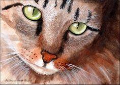 """Pretty Kitty"" - Original Fine Art for Sale - © Patricia Ann Rizzo http://dailypaintworks.com/fineart/patricia-ann-rizzo/pretty-kitty/165816"