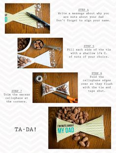 Father's Day treat template and tutorial.  So cute!