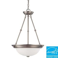 Glomar 3-Light Hanging Brushed Nickel Pendant Light-HD-3297 at The Home Depot