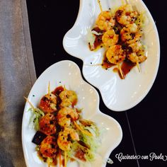 #sushi #japan #ricetta #gamberi #spiedini